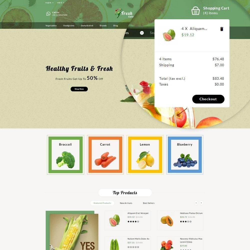 theme - Alimentation & Restauration - Fresh Culture Organic Store - 9