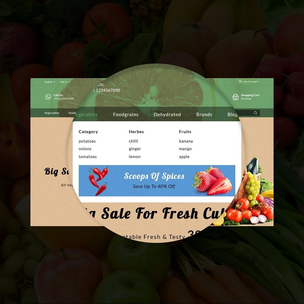 theme - Alimentation & Restauration - Fresh Culture Organic Store - 10