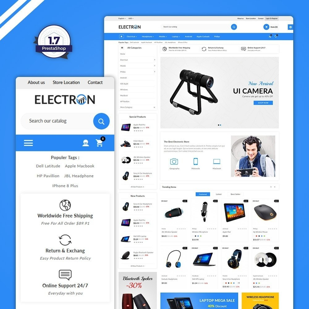 theme - Eletrônicos & High Tech - Electron – Electronics Super Store - 1
