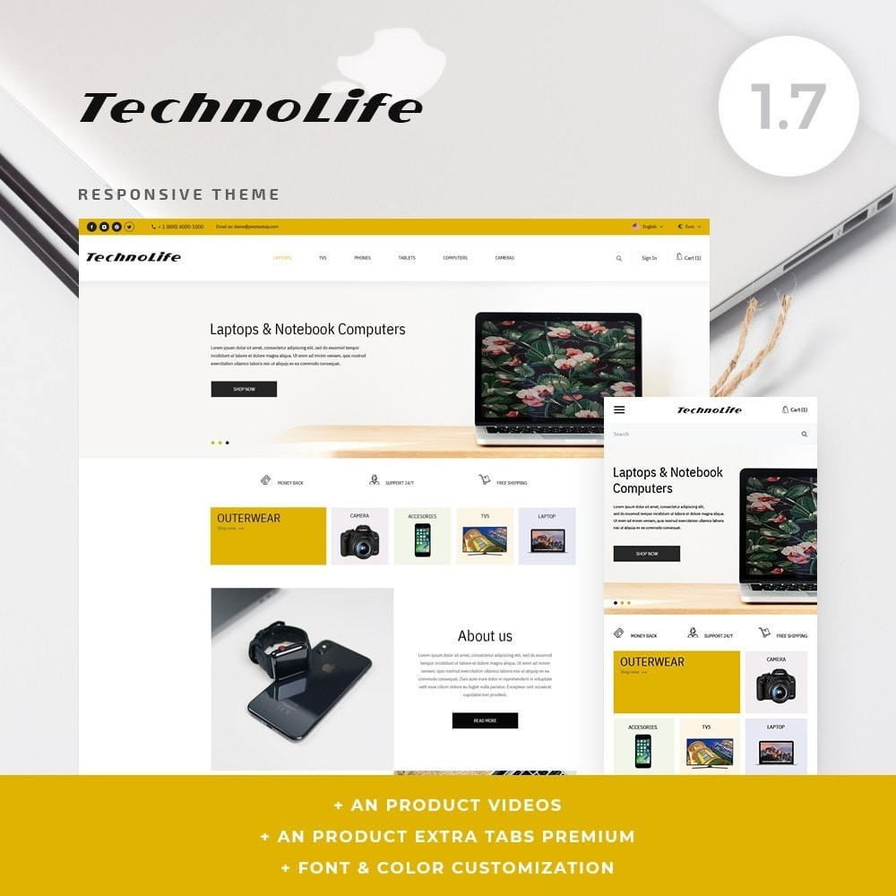theme - Electronics & Computers - TechnoLife - High-tech Shop - 1