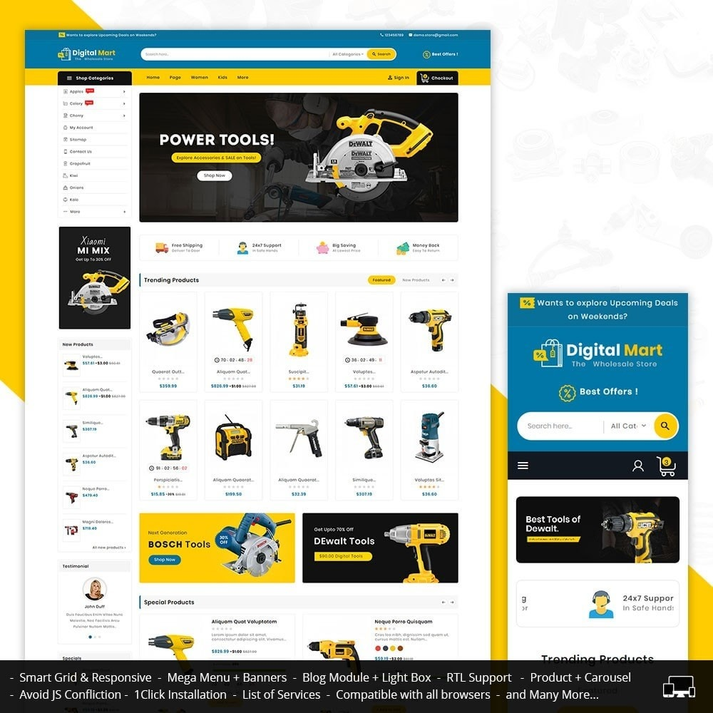 theme - Electronics & Computers - Digital Mart Tools Equipment - 1