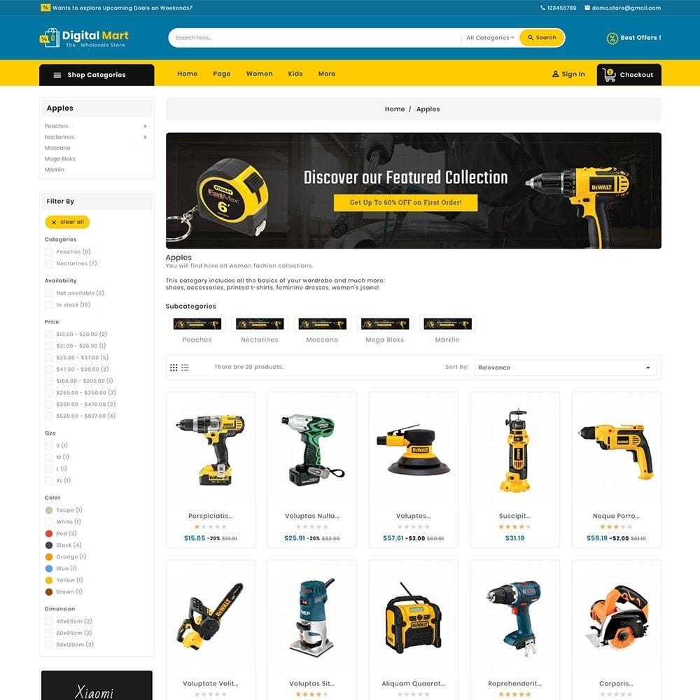 theme - Electronics & Computers - Digital Mart Tools Equipment - 5
