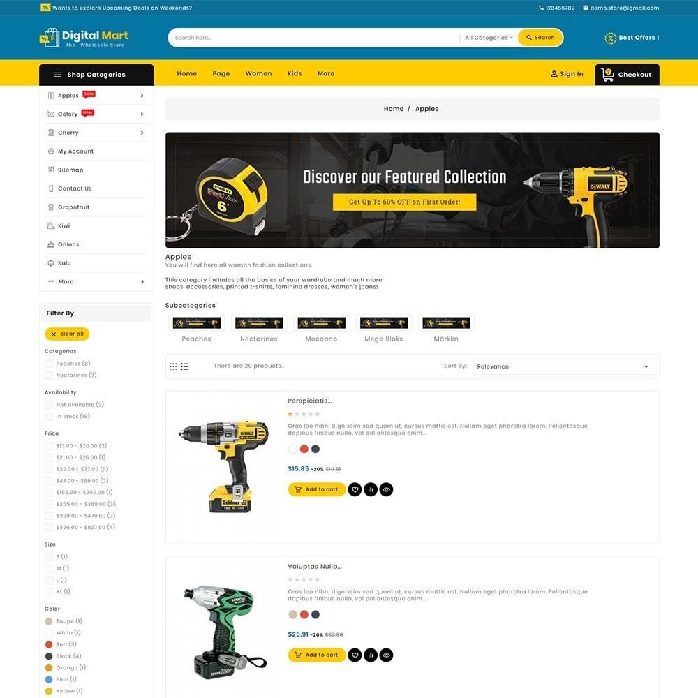 theme - Electronics & Computers - Digital Mart Tools Equipment - 6