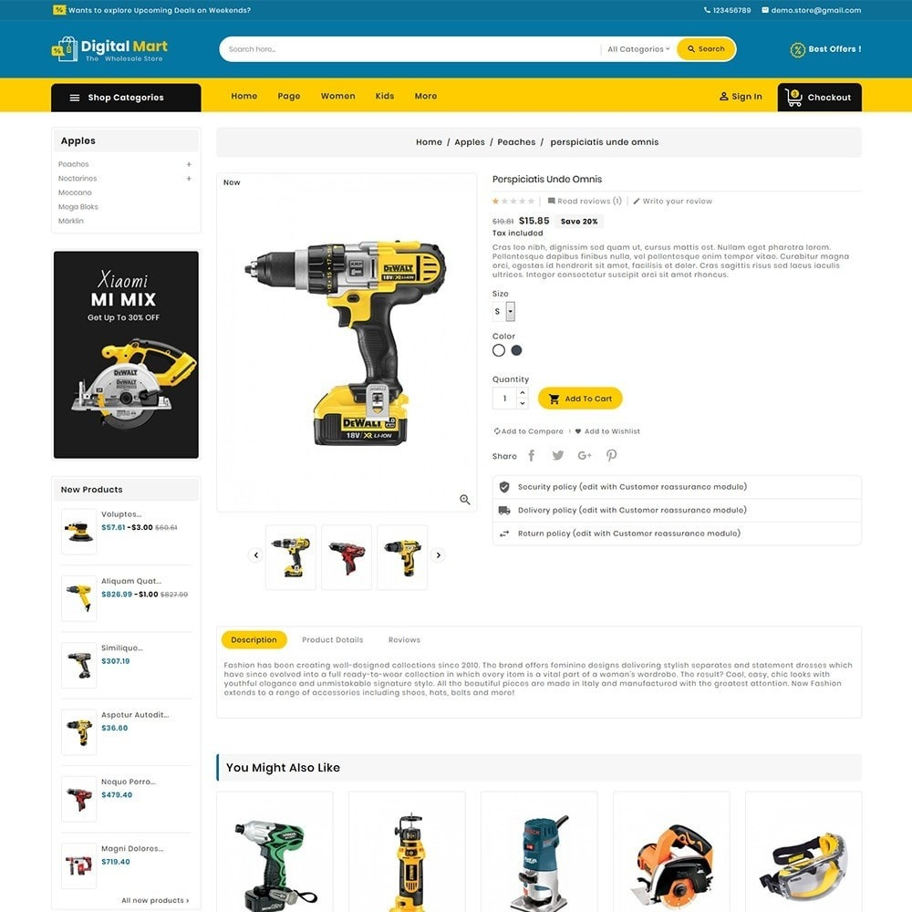 theme - Electronics & Computers - Digital Mart Tools Equipment - 7