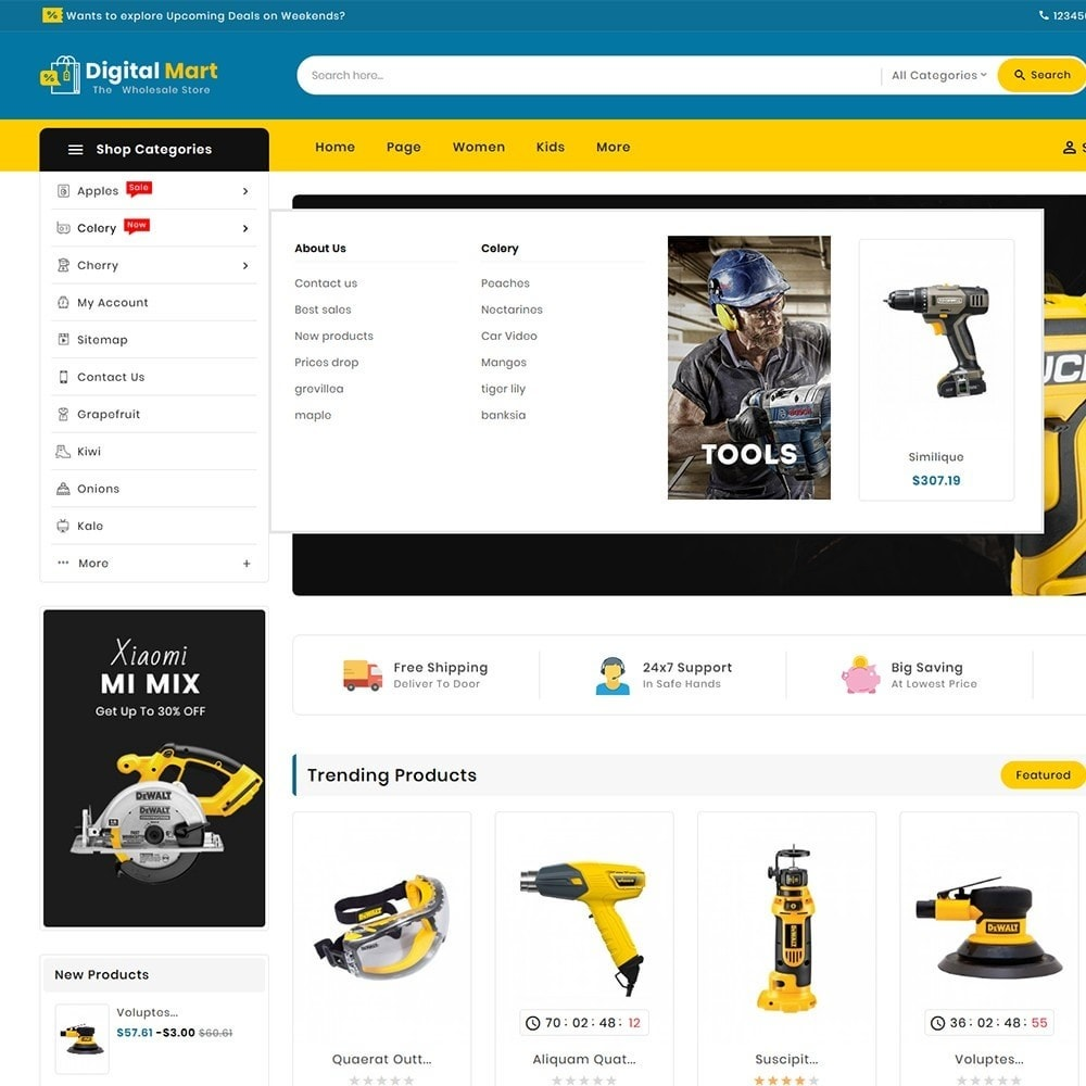 theme - Electronics & Computers - Digital Mart Tools Equipment - 11