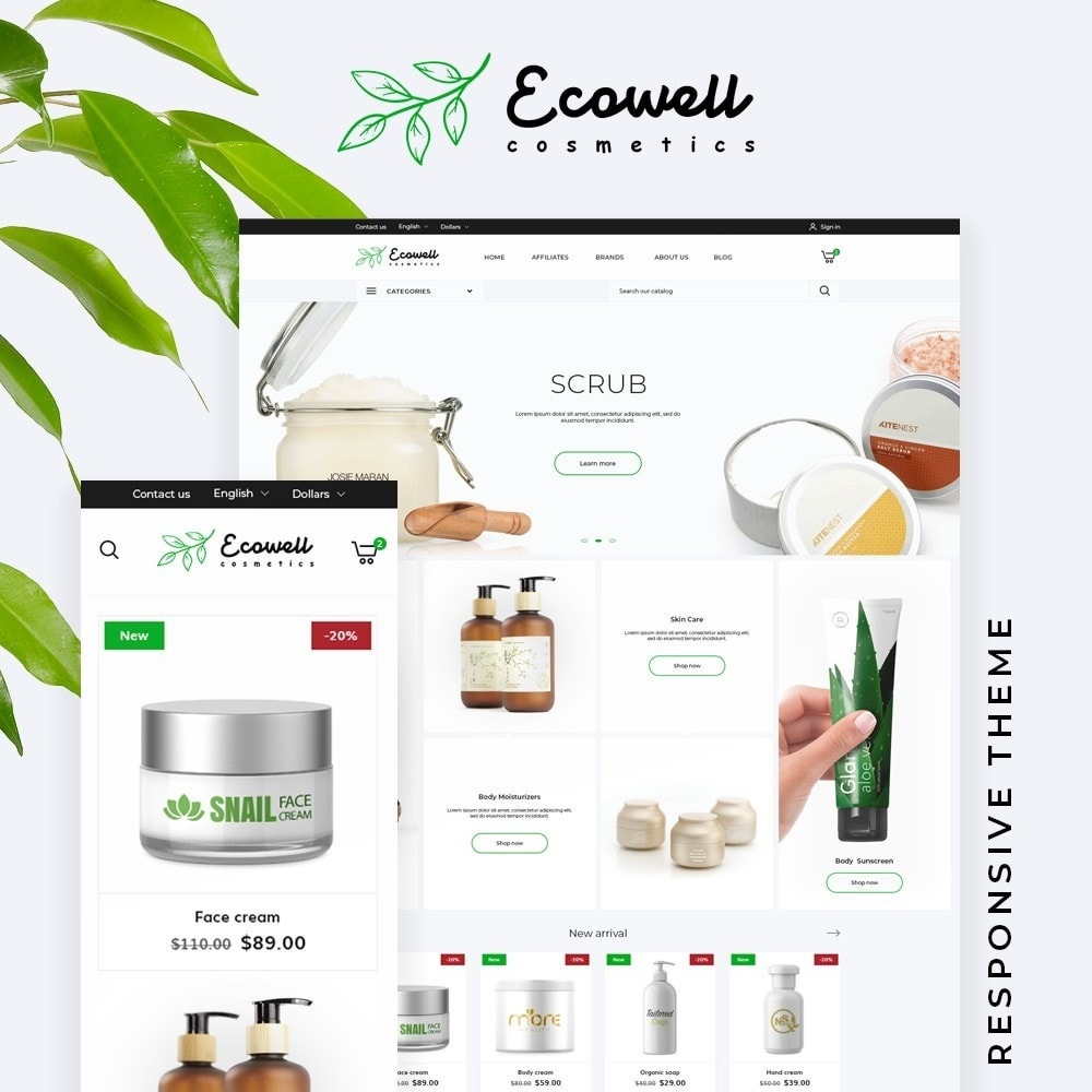 theme - Health & Beauty - Ecowell Cosmetics - 1