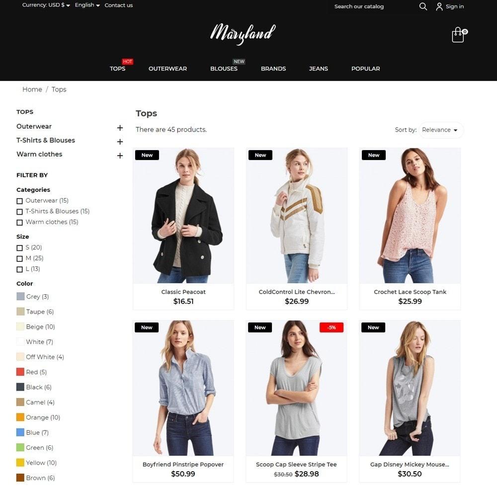theme - Fashion & Shoes - Maryland Fashion Store - 6
