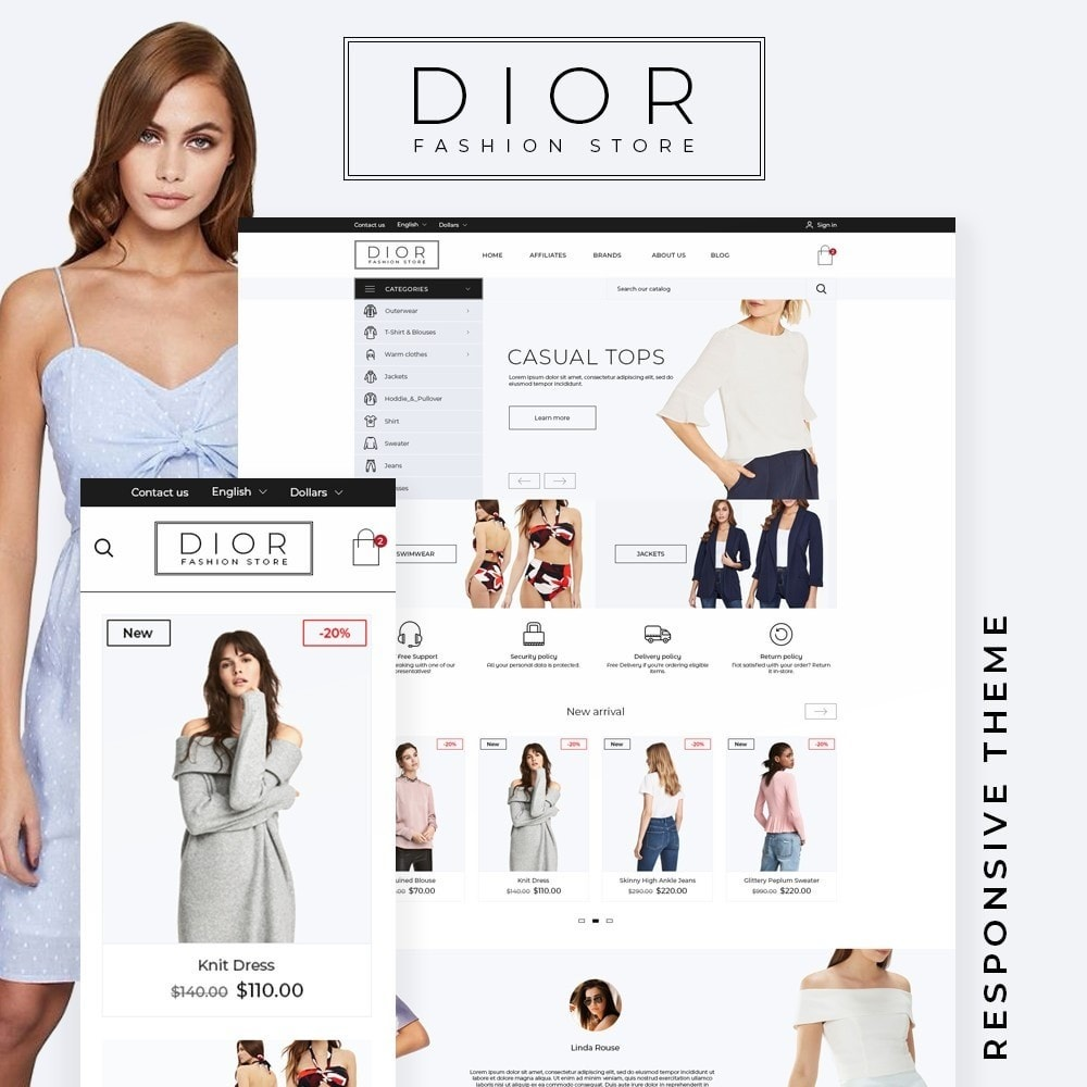 theme - Fashion & Shoes - Dior Fashion Store - 1