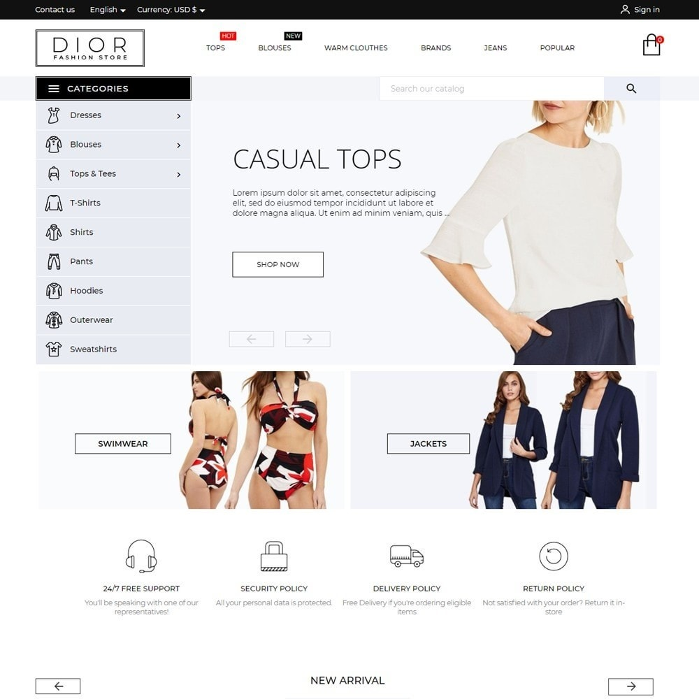theme - Fashion & Shoes - Dior Fashion Store - 2