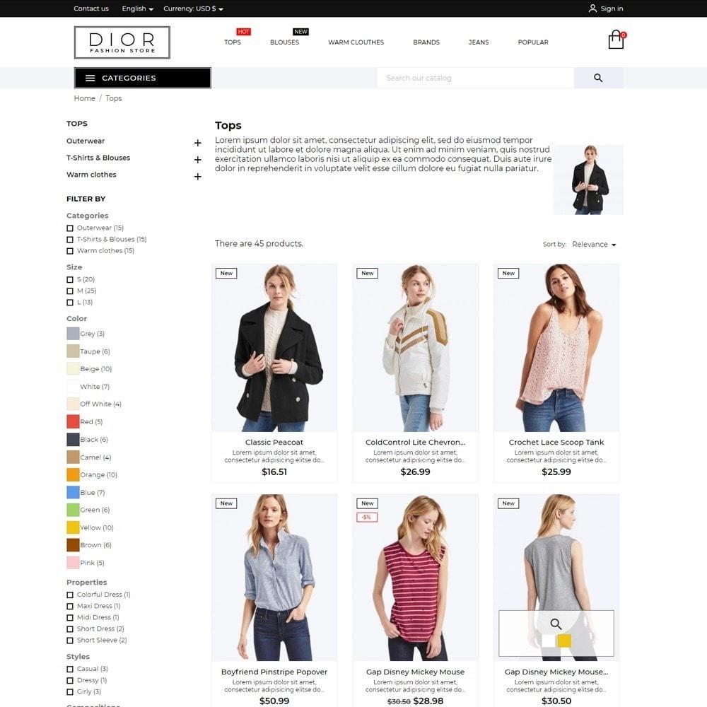 theme - Fashion & Shoes - Dior Fashion Store - 5