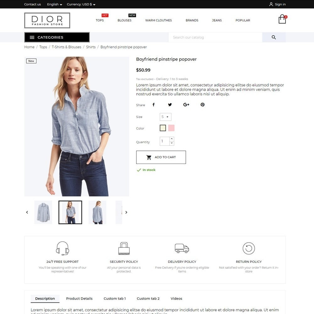 theme - Fashion & Shoes - Dior Fashion Store - 6