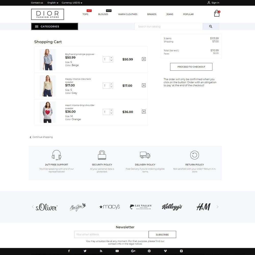 theme - Fashion & Shoes - Dior Fashion Store - 7