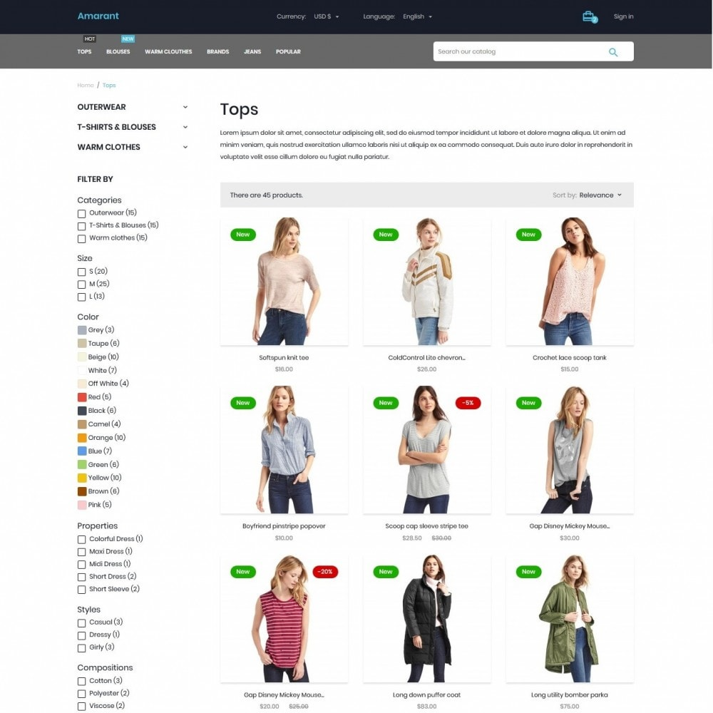 theme - Fashion & Shoes - Amarant Fashion Store - 5