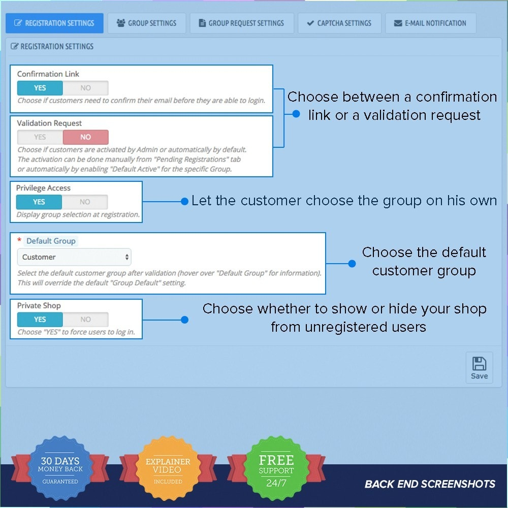 module - Cadastro e Processo de Pedido - Customer Groups Registration PRO - 8