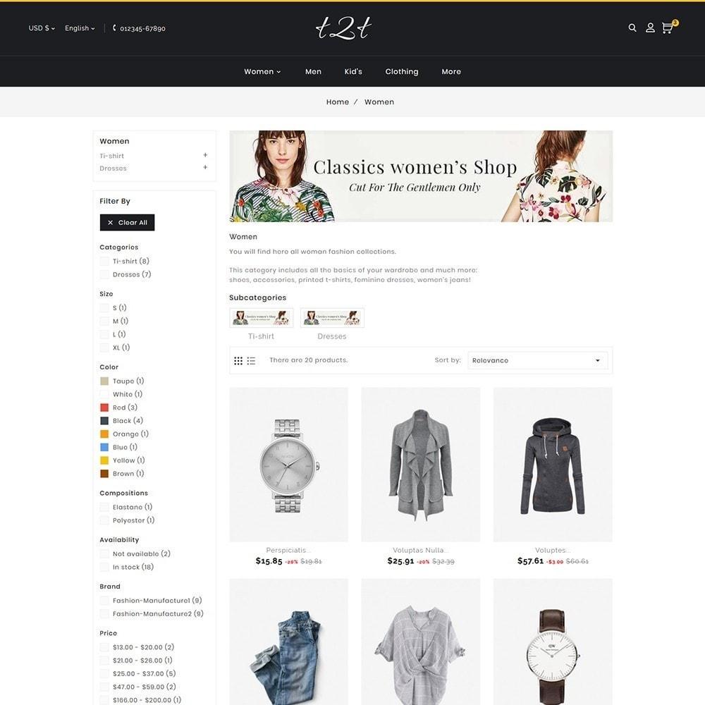 theme - Fashion & Shoes - t2t Fashion Style - 6