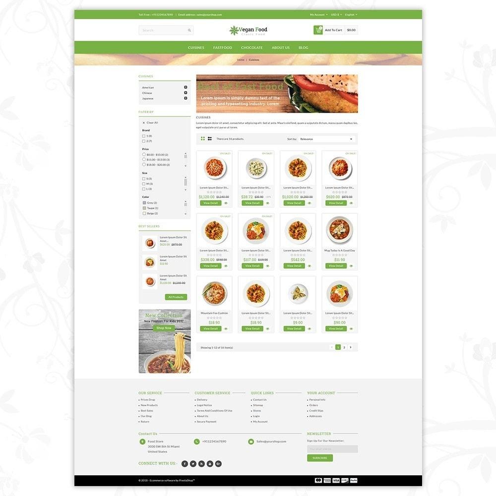 theme - Food & Restaurant - Vegan Food Store - 3