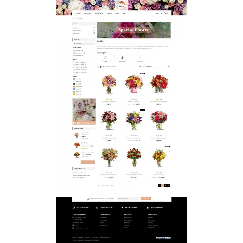 theme - Gifts, Flowers & Celebrations - Flow - Flowers Store - 3