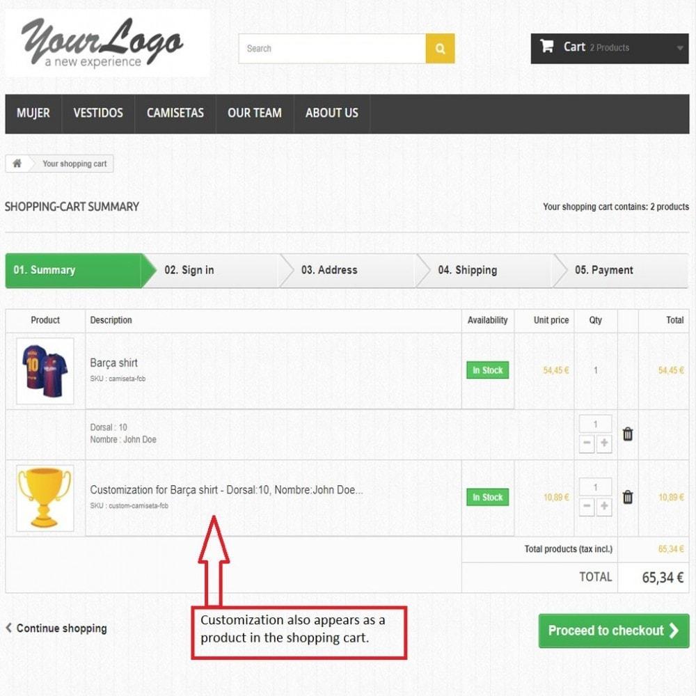 module - Combinaciones y Personalización de productos - Campos personalizados con precio - 8