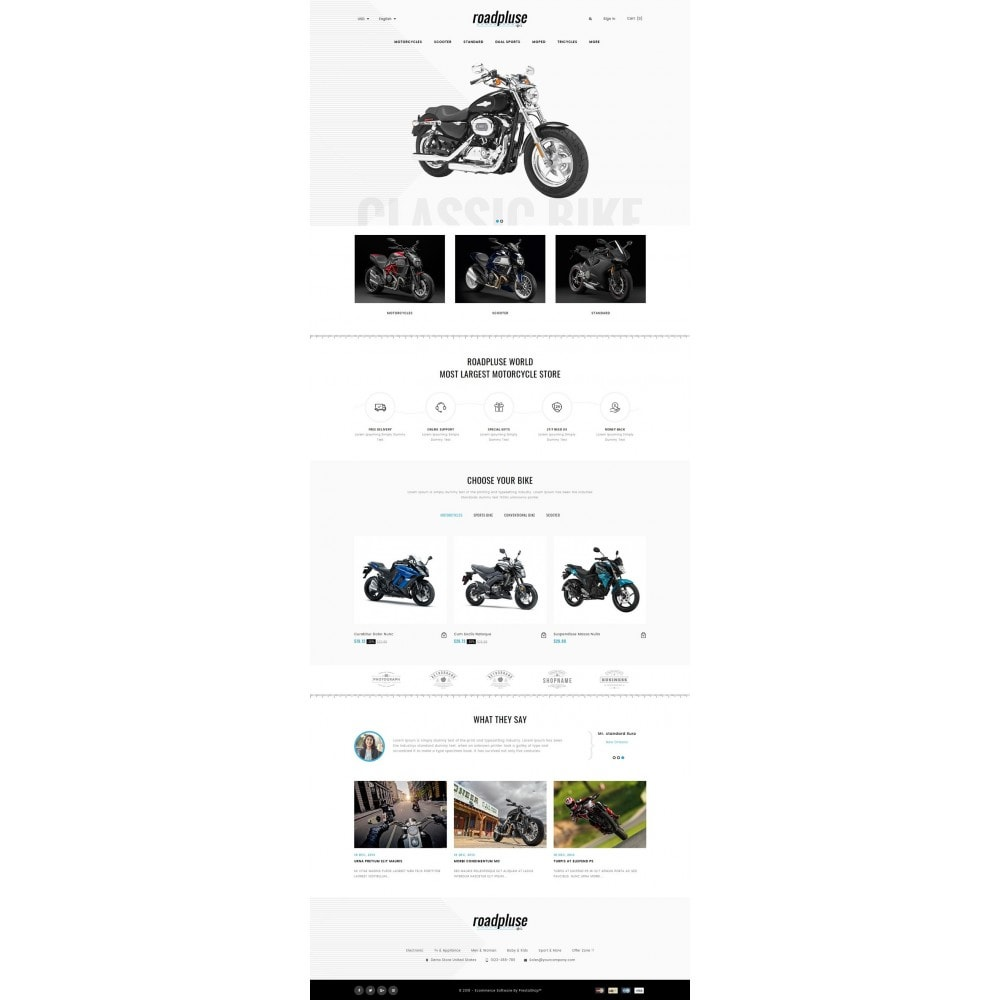 theme - Automotive & Cars - Roadpluse - Bike Store - 2