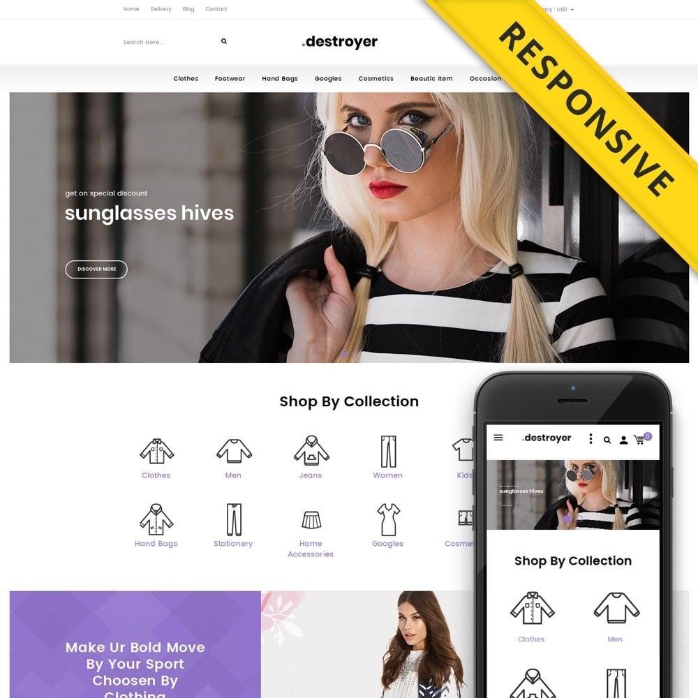 theme - Moda & Calçados - Destroyer - Fashion Store - 1