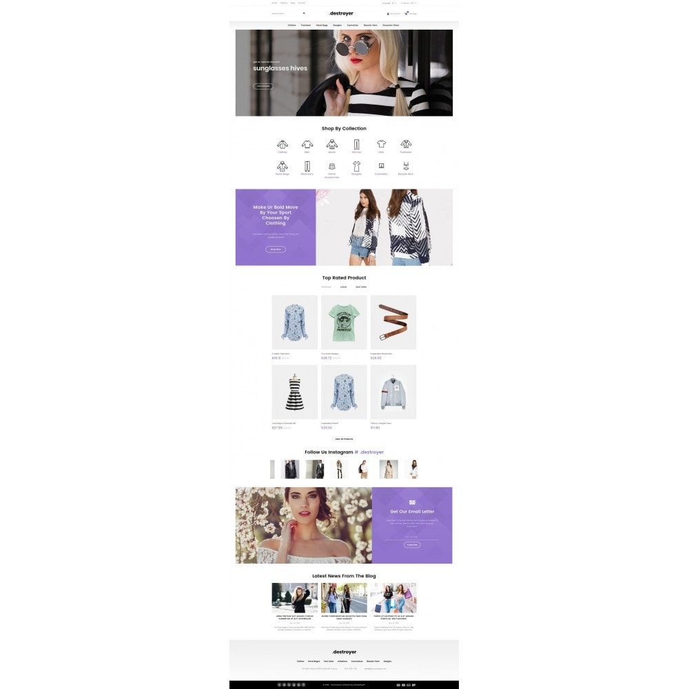 theme - Moda & Calçados - Destroyer - Fashion Store - 2