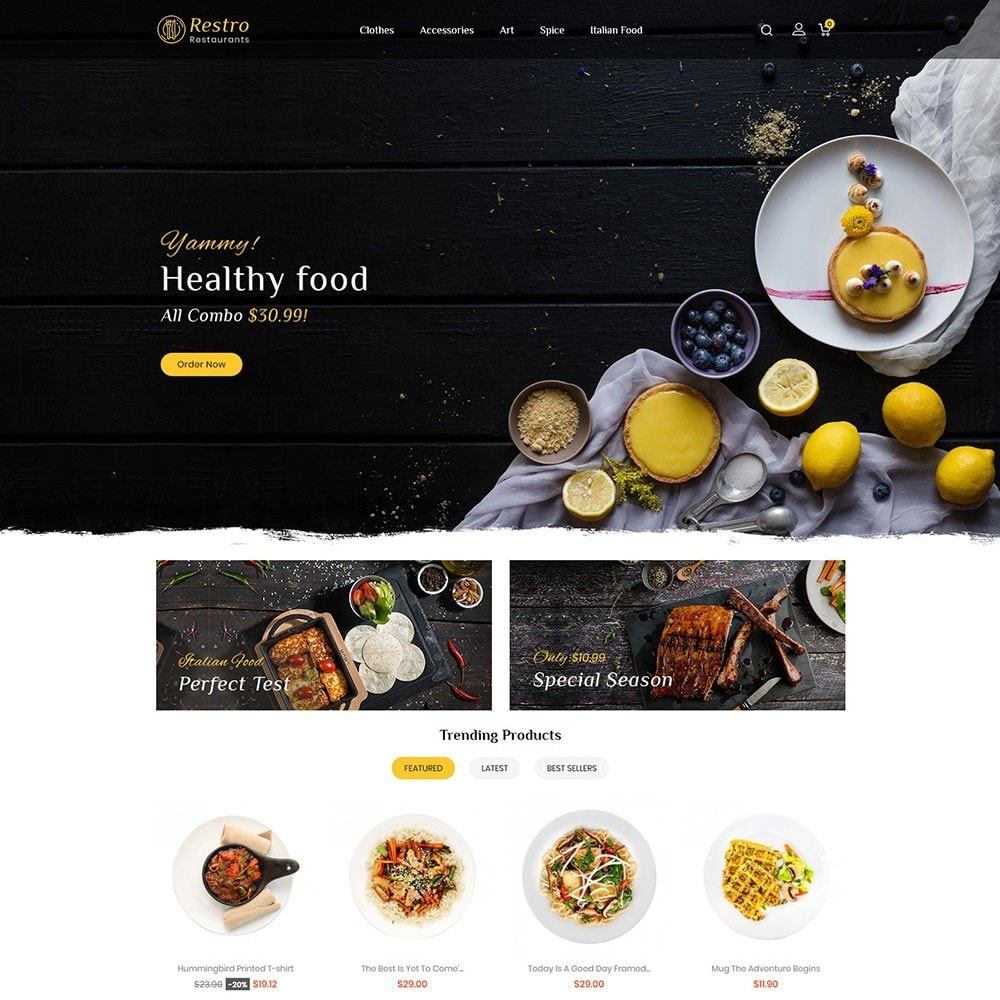 theme - Alimentos & Restaurantes - Restro Restaurant - 2
