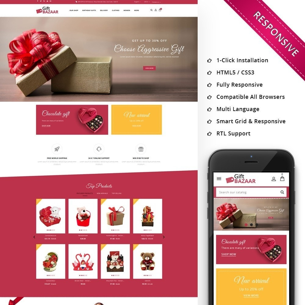 theme - Gifts, Flowers & Celebrations - Gift Bazaar - The Gift Shop - 1