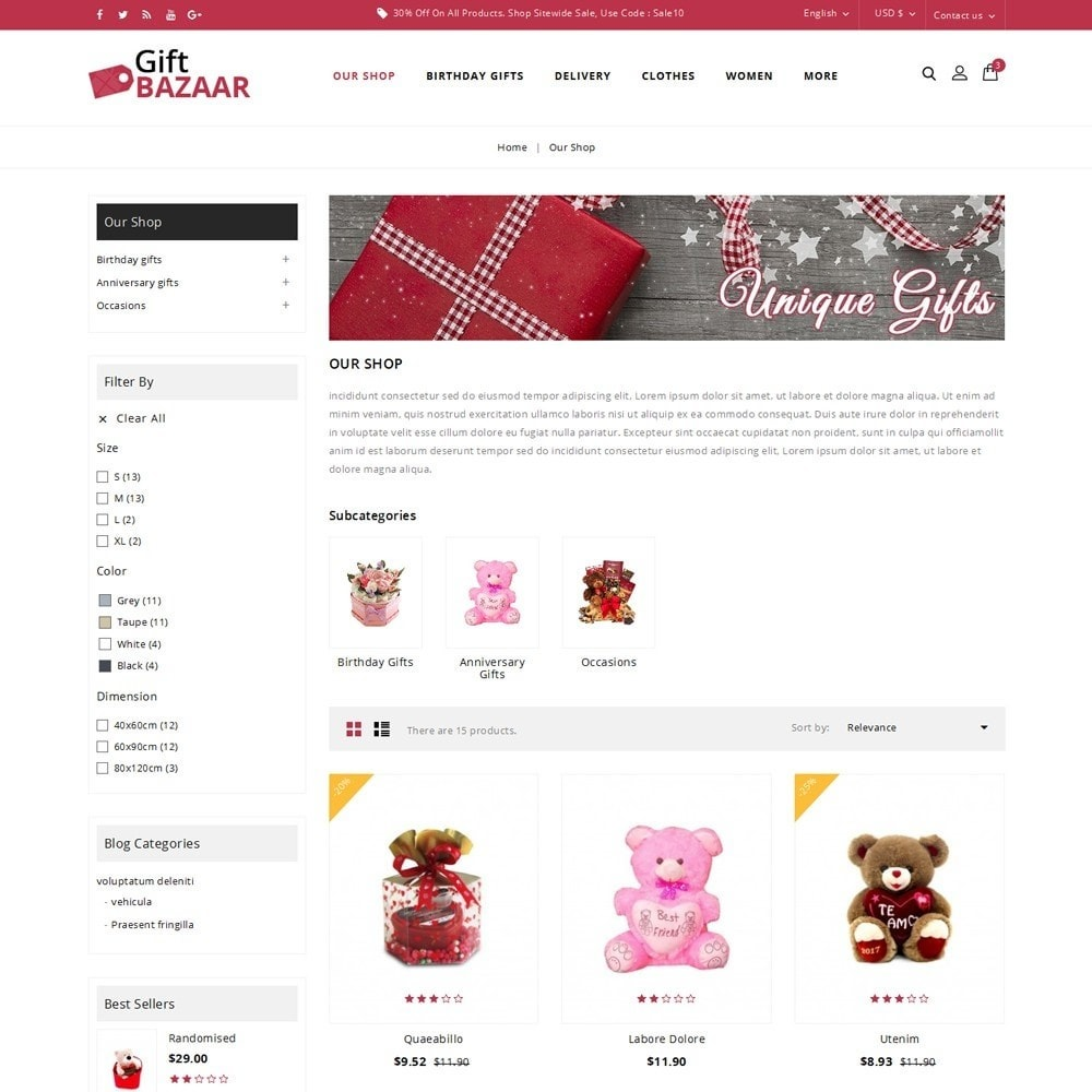 theme - Gifts, Flowers & Celebrations - Gift Bazaar - The Gift Shop - 4