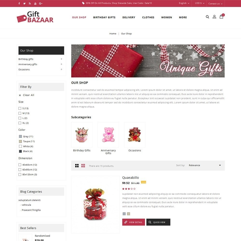 theme - Gifts, Flowers & Celebrations - Gift Bazaar - The Gift Shop - 5