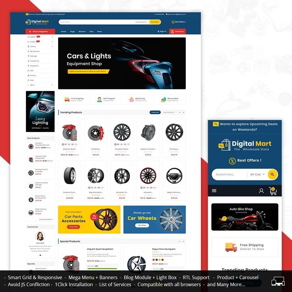 theme - Auto & Moto - Digital Mart Auto Parts - 1