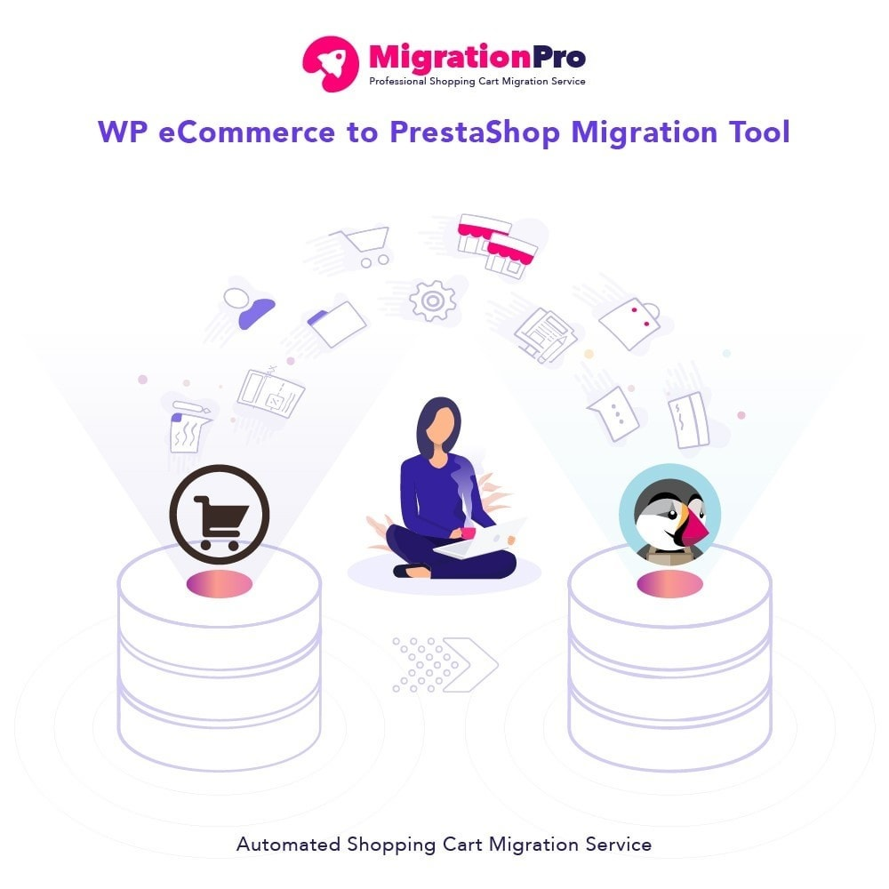 module - Migratie & Backup - MigrationPro: WP eCommerce to PrestaShop Migration tool - 1