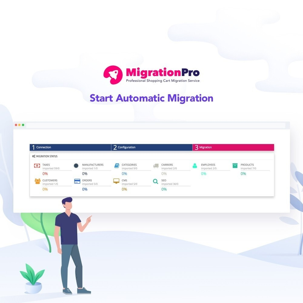 module - Migratie & Backup - MigrationPro: WP eCommerce to PrestaShop Migration tool - 5