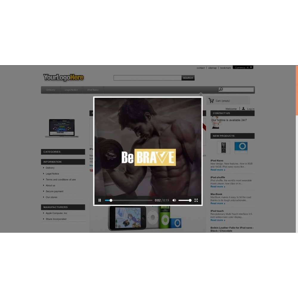 module - Promotions & Cadeaux - SFK - Home Page Popup MP4 Video on Selected Languages - 6