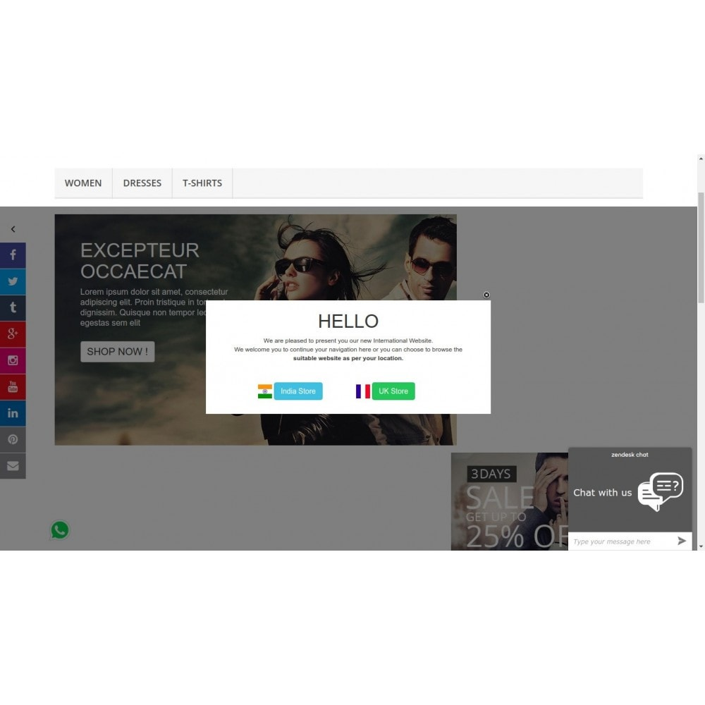 module - Dialoogvensters & Pop-ups - Show Popup Message and Redirect Links Based on Country - 5