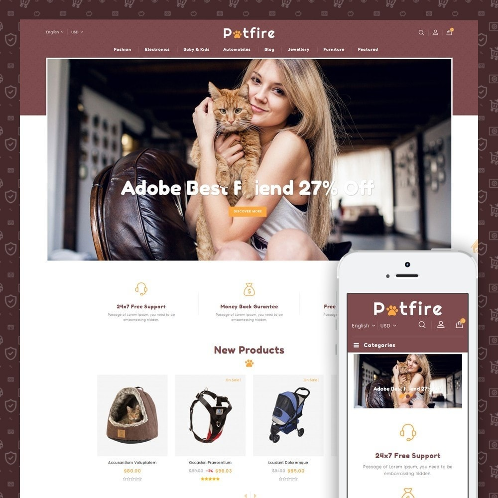 theme - Animals & Pets - Petfire - Animals Store - 1