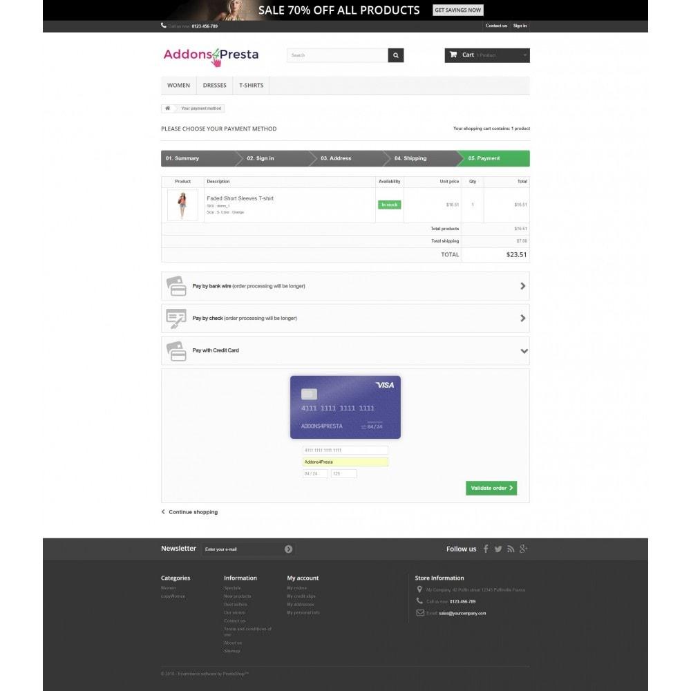 module - Pagamento por cartão ou por carteira - Moneris Online Payments - 12
