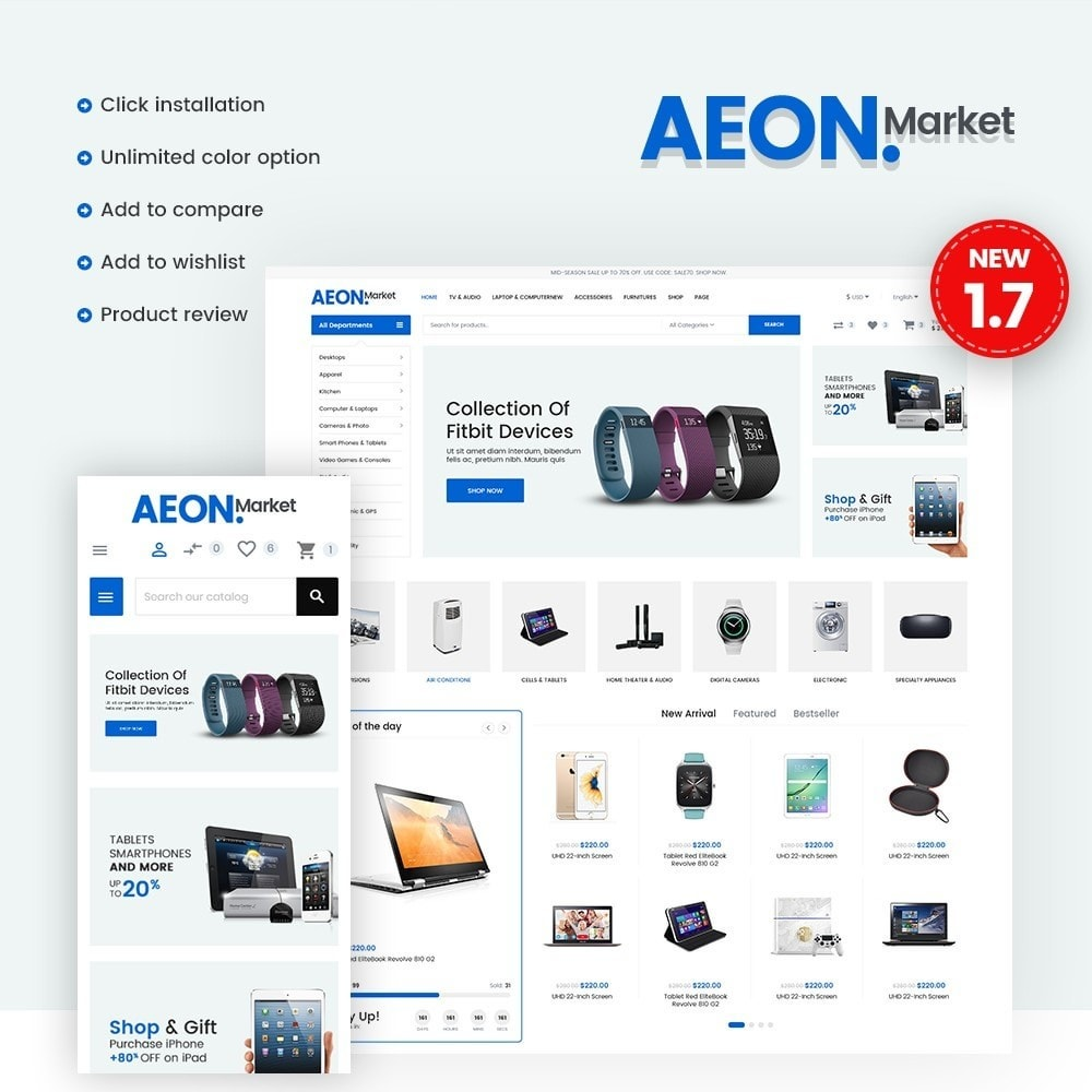 theme - Electronique & High Tech - AeonMarket Electronic Store - 1