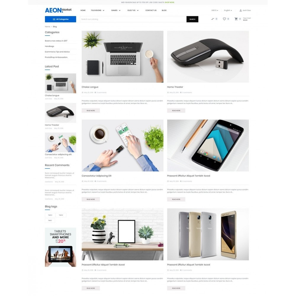 theme - Electronique & High Tech - AeonMarket Electronic Store - 7