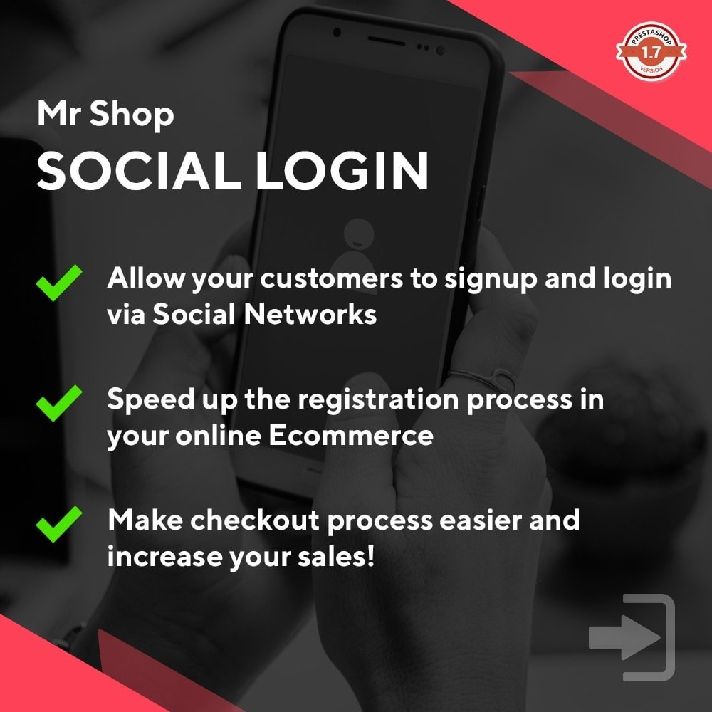 module - Social Login & Connect - Mr Shop Social Login - 1