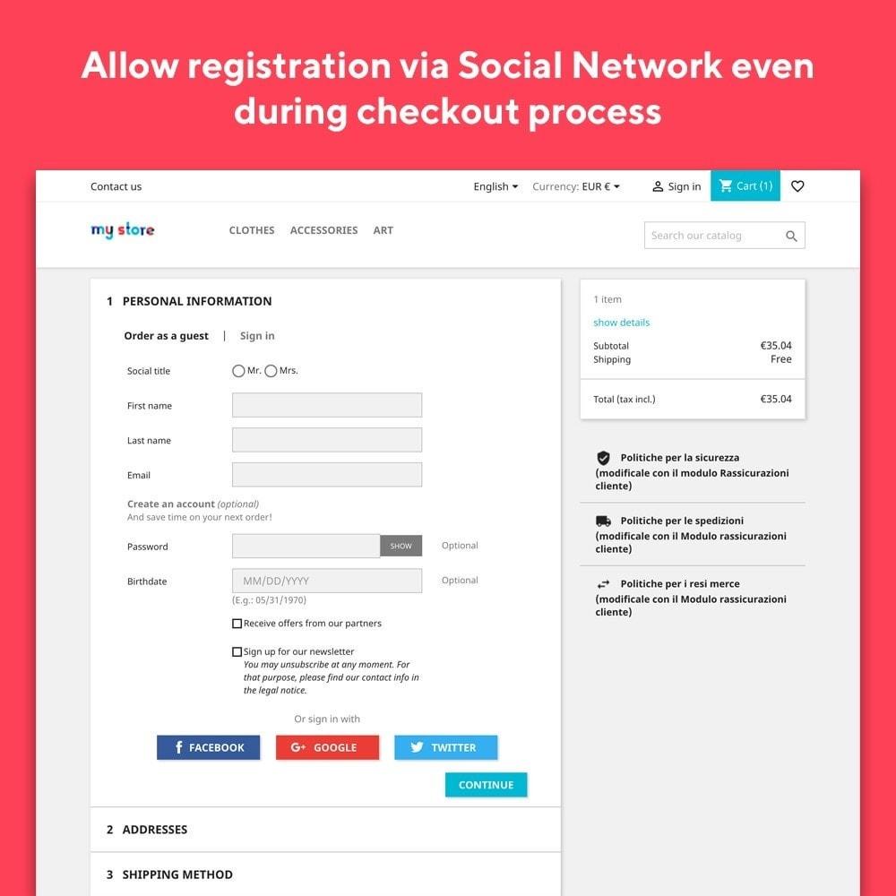 module - Social Login & Connect - Mr Shop Social Login - 3