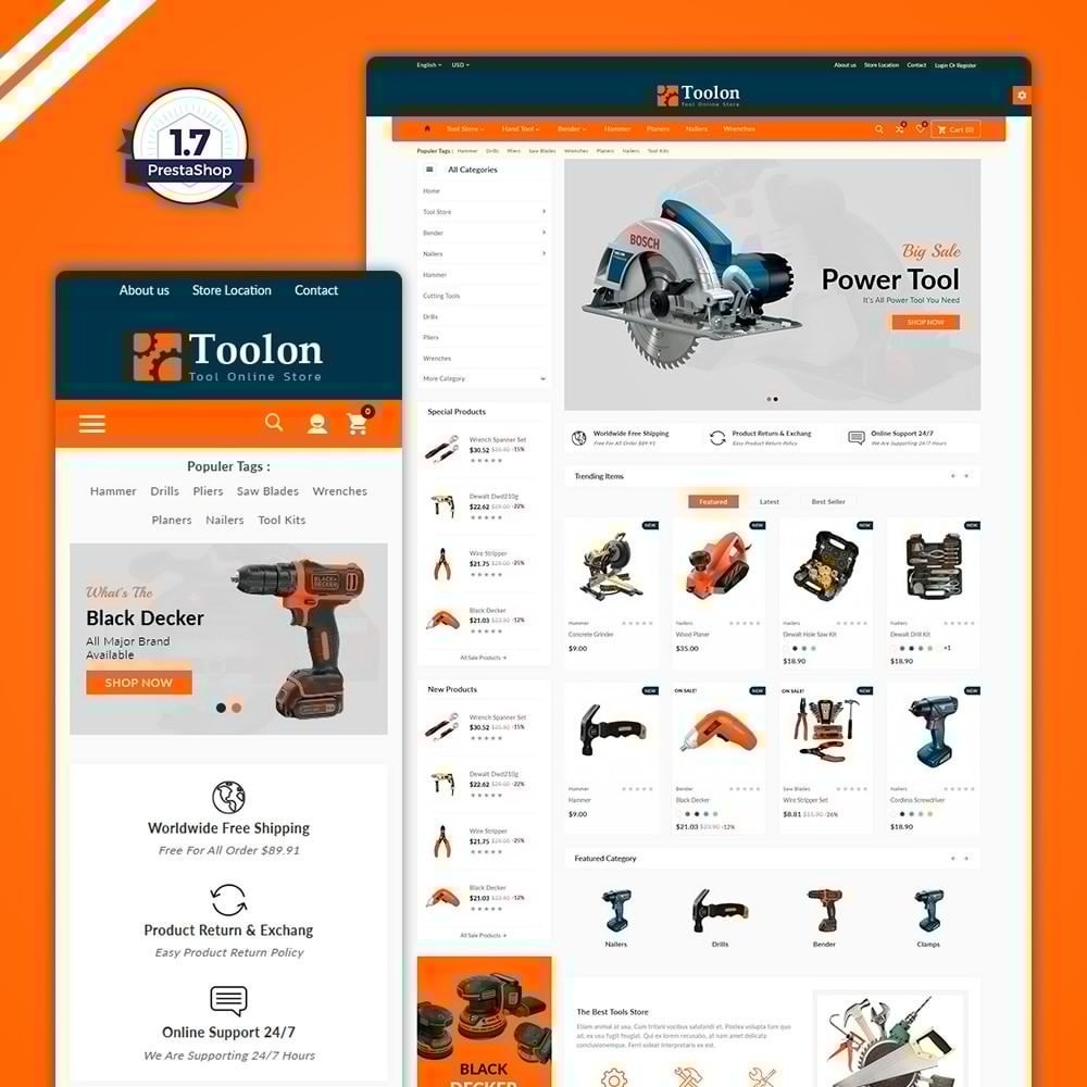 theme - Automotive & Cars - Toolon –Tools Mega Shop - 1