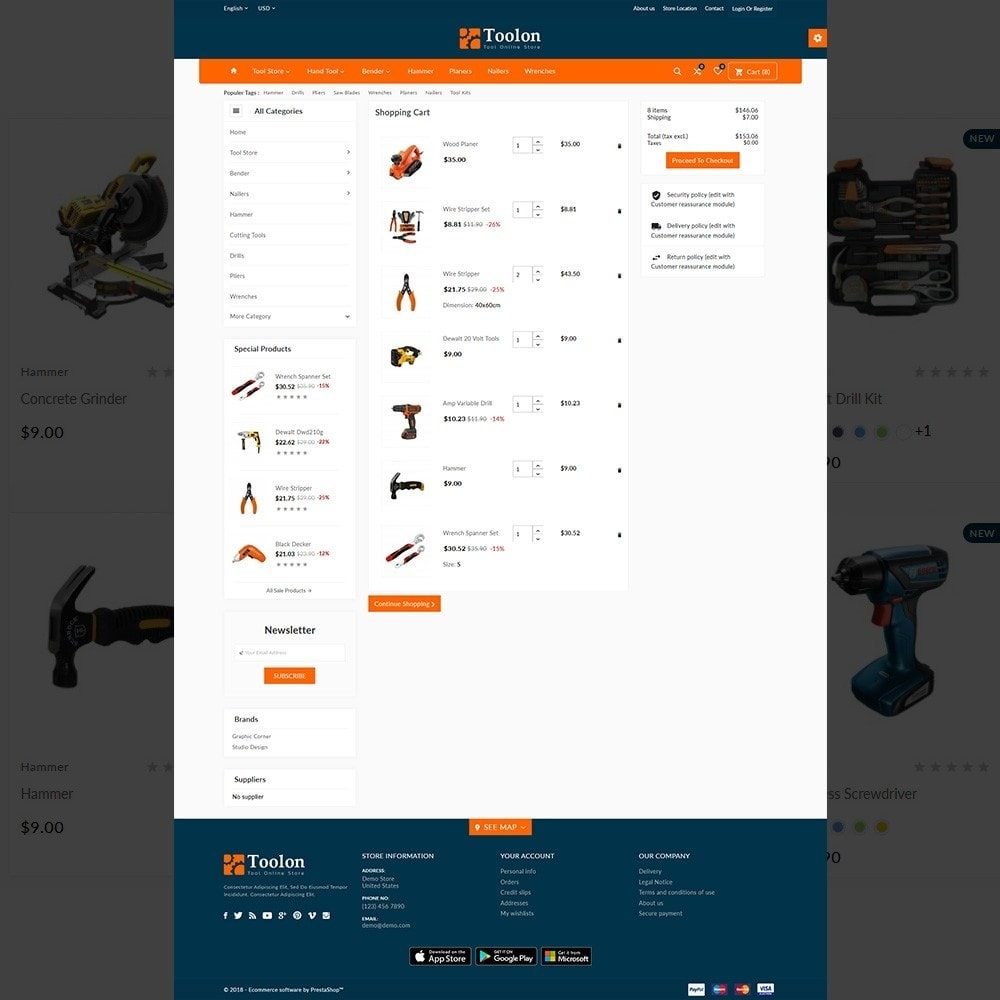 theme - Automotive & Cars - Toolon –Tools Mega Shop - 4