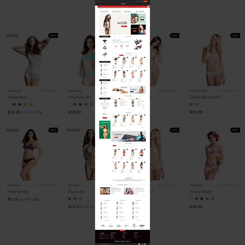 theme - Lingerie & Adult - Red Rose –The Lingerie Store - 2