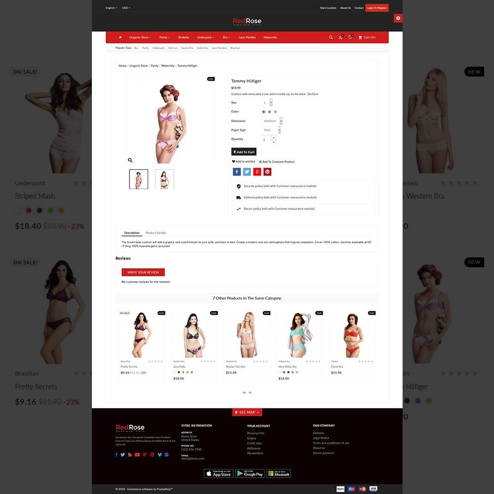 theme - Lingerie & Adult - Red Rose –The Lingerie Store - 5