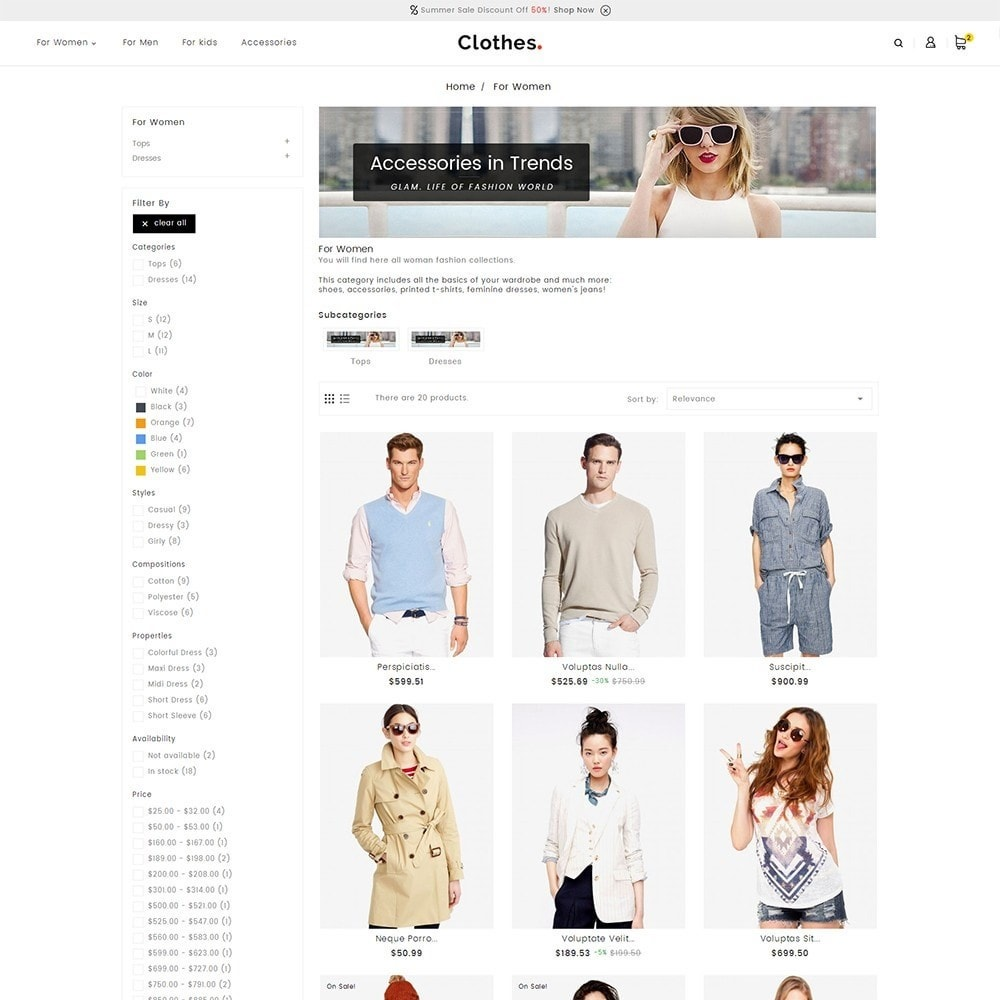 theme - Mode & Chaussures - Fashion Clothes - 4
