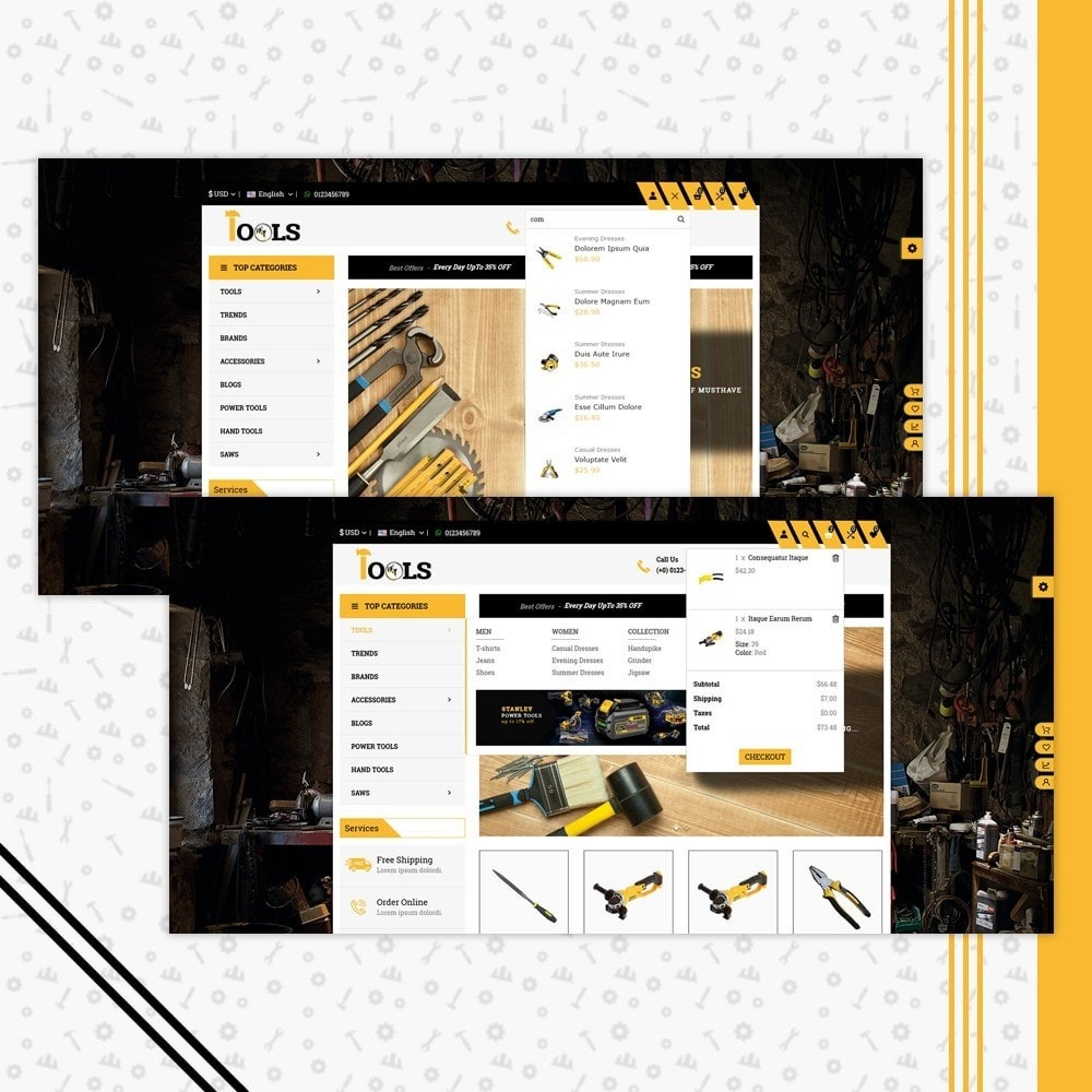 theme - Carros & Motos - Tools Shop - 6