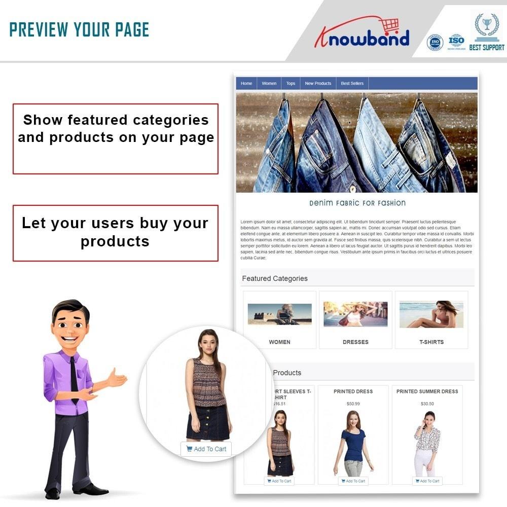 module - Produtos nas Facebook & Redes Sociais - Knowband - Social Shop Integrator - 1