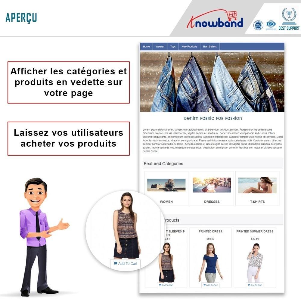 module - Produits sur Facebook & réseaux sociaux - Knowband - Intégrateur de boutique sociale - 1