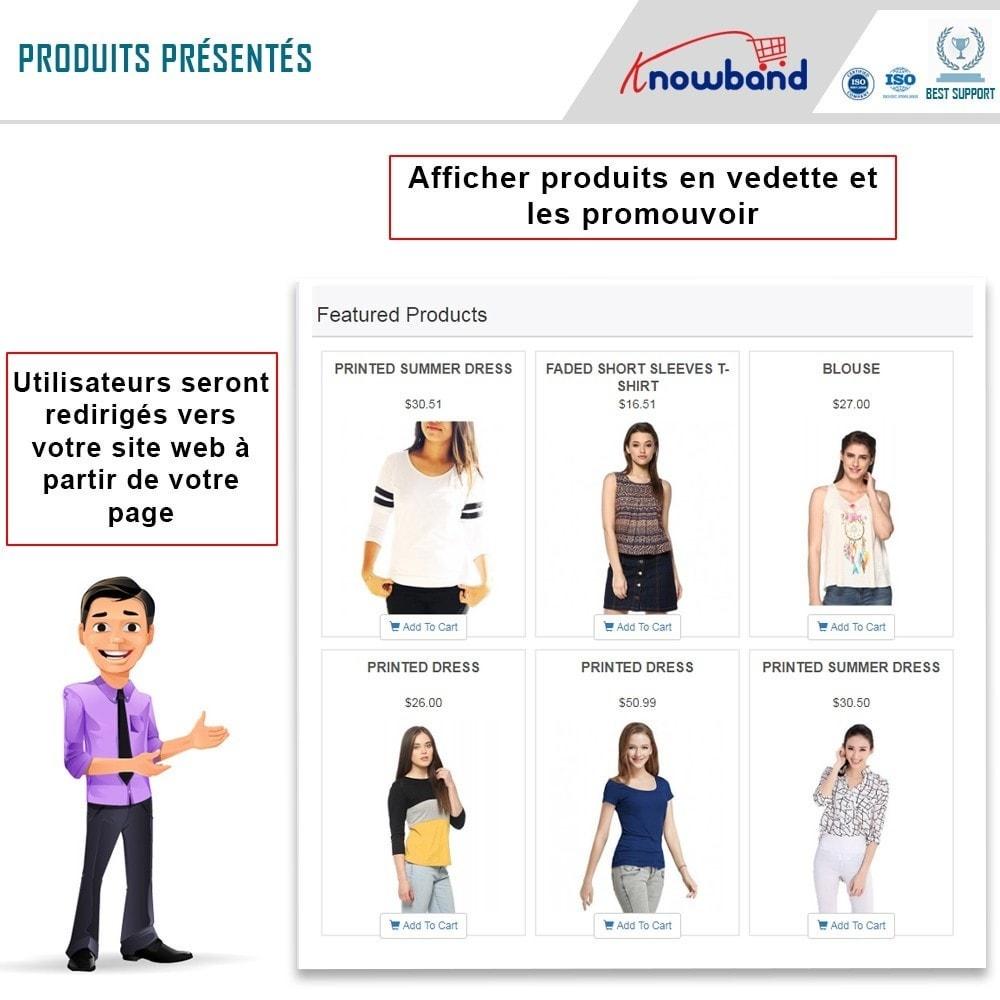 module - Produits sur Facebook & réseaux sociaux - Knowband - Intégrateur de boutique sociale - 2