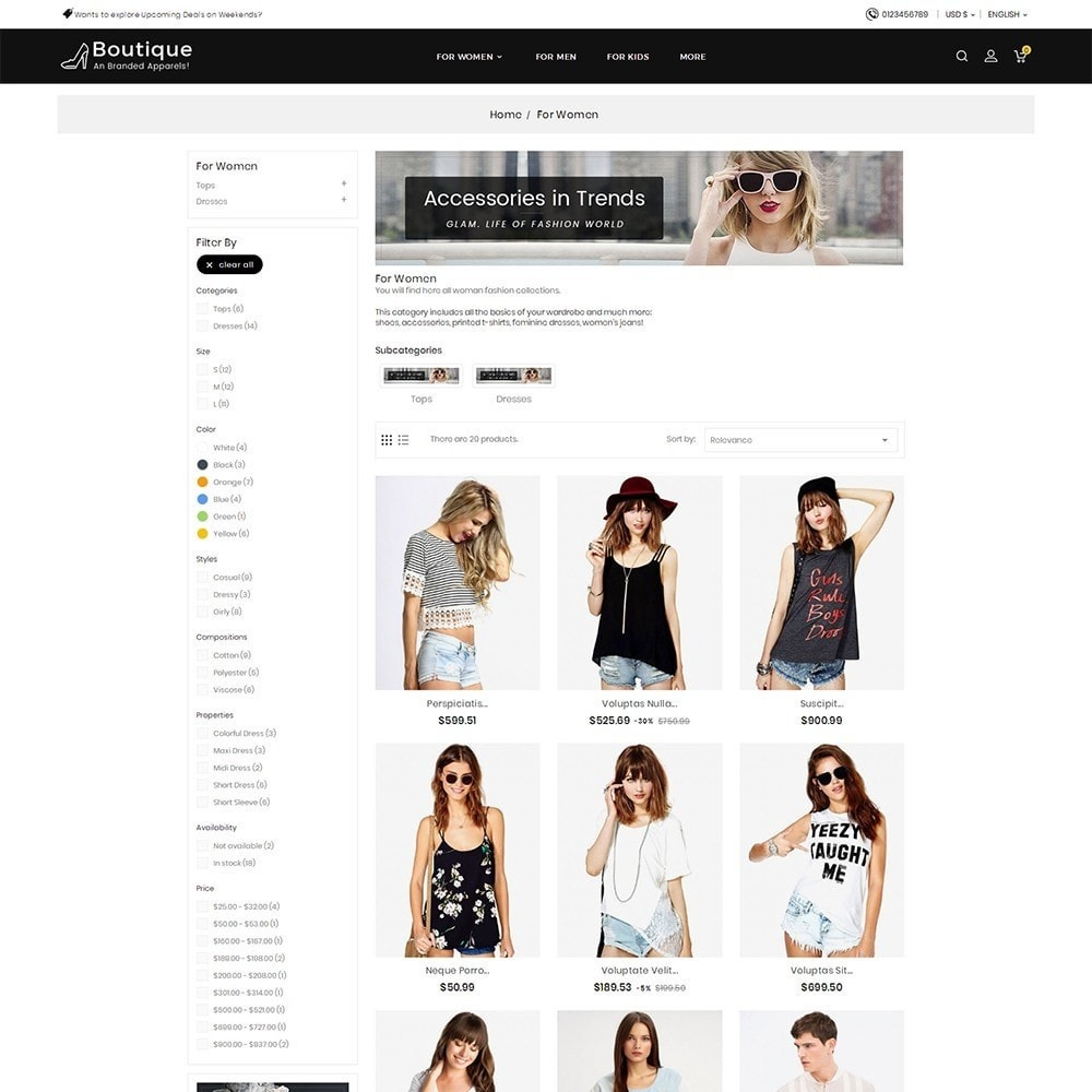 theme - Moda y Calzado - Boutique Fashion Light - 5